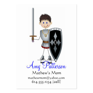 My Little Knight Player Mommy Cards Business Card