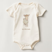 My Little Lamb Baby Bodysuit