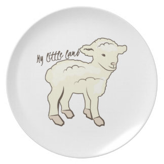 My Little Lamb Party Plates