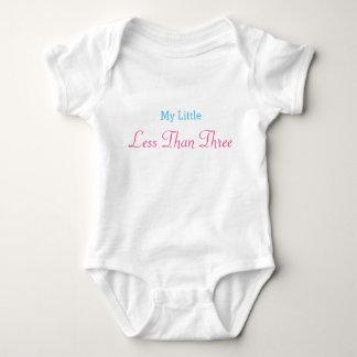 My Little Less Than Three Design Baby Bodysuit