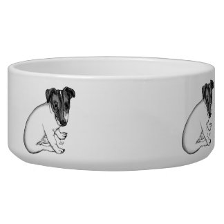 My little Lovely Dog - Jack Russell Terrier Puppy Pet Food Bowl