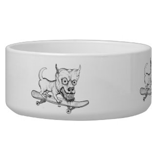 My little Lovely Dog - pencil drawing Pet Food Bowls