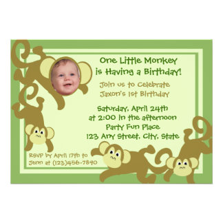 My Little Monkey Personalized Announcements