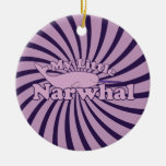 My Little Narwhal Double-Sided Ceramic Round Christmas Ornament