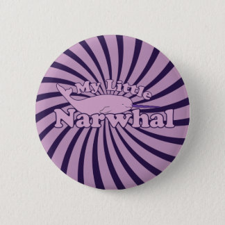 My Little Narwhal Parody Pinback Button