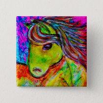 my little neon pony button