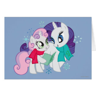 My Little Ponies Caroling Card