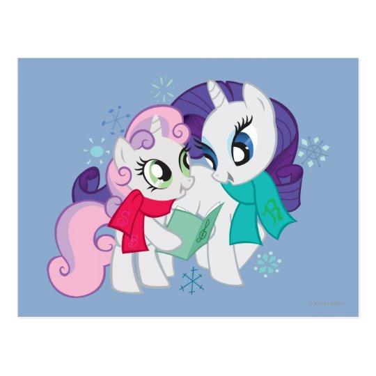 My Little Ponies Caroling Postcard