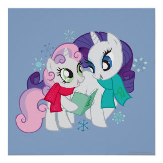 My Little Ponies Caroling Poster