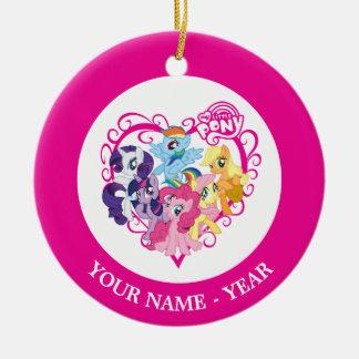My Little Ponies Heart Ceramic Ornament