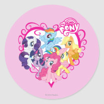 My Little Ponies Heart Classic Round Sticker
