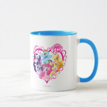 My Little Ponies Heart Mug