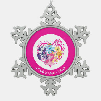 My Little Ponies Heart Snowflake Pewter Christmas Ornament