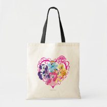 My Little Ponies Heart Tote Bag