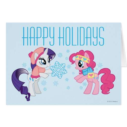 My Little Ponies with Snowflakes Greeting Cards