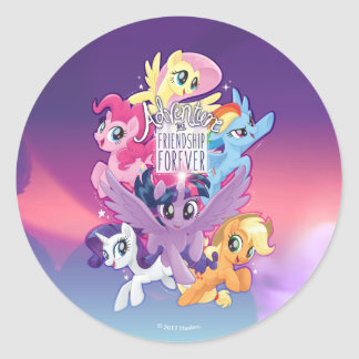 My Little Pony   Adventure and Friendship Forever Classic Round Sticker