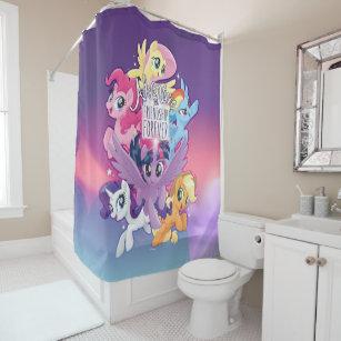 Dash Pony Shower Curtains