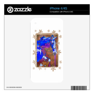 My Little Pony (Blue and Brown) Skins For iPhone 4S