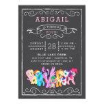 My Little Pony   Chalkboard Birthday Card<br><div class='desc'>My Little Pony   Chalkboard Birthday</div>