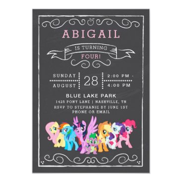 mylittlepony My Little Pony   Chalkboard Birthday Card