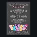 """My Little Pony   Chalkboard Birthday Invitation<br><div class=""""desc"""">My Little Pony   Chalkboard Birthday</div>"""