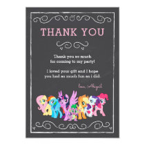 My Little Pony | Chalkboard Birthday - Thank You Card