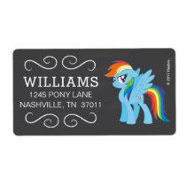 My Little Pony | Chalkboard Rainbow Dash Label