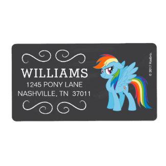My Little Pony   Chalkboard Rainbow Dash Label