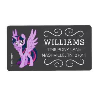 My Little Pony   Chalkboard Twilight Sparkle Label