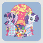 My Little Pony Chinese New Year Square Sticker