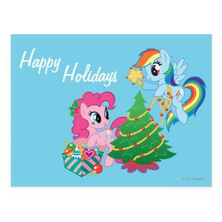 My Little Pony Christmas Postcard