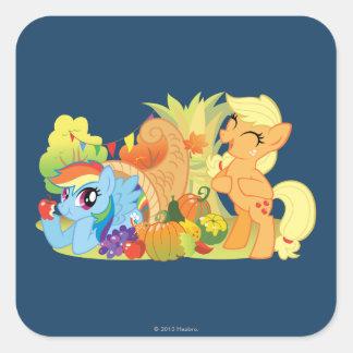 My Little Pony, Fall Scene Square Sticker