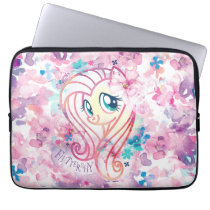 My Little Pony | Fluttershy Floral Watercolor Computer Sleeve
