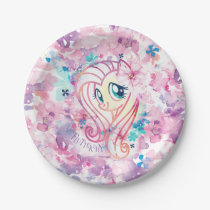 My Little Pony | Fluttershy Floral Watercolor Paper Plate