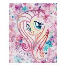 My Little Pony | Fluttershy Floral Watercolor Poster