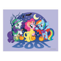 My Little Pony, Halloween Boo Postcard