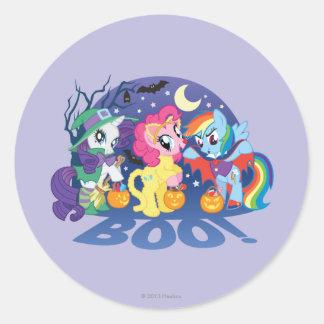 My Little Pony, Halloween Boo Classic Round Sticker
