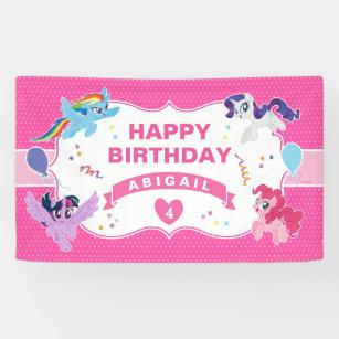 my little pony hot pink birthday banner