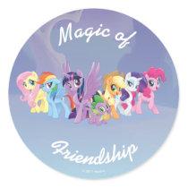 My Little Pony | Mane Six in Equestria Classic Round Sticker