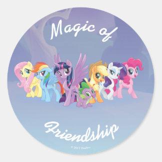 My Little Pony   Mane Six in Equestria Classic Round Sticker
