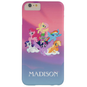 timeless design 044b1 a3b38 My Little Pony   Mane Six on Clouds Barely There iPhone 6 Plus Case
