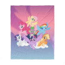 My Little Pony | Mane Six on Clouds Fleece Blanket