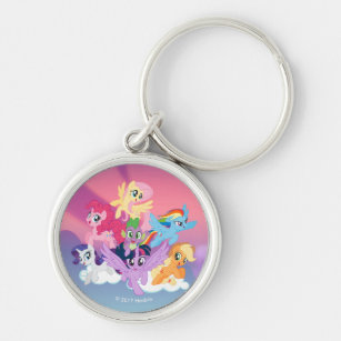 My Little Pony | Mane Six on Clouds Keychain