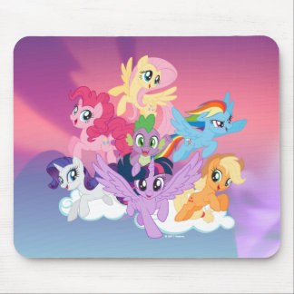 My Little Pony | Mane Six on Clouds Mouse Pad