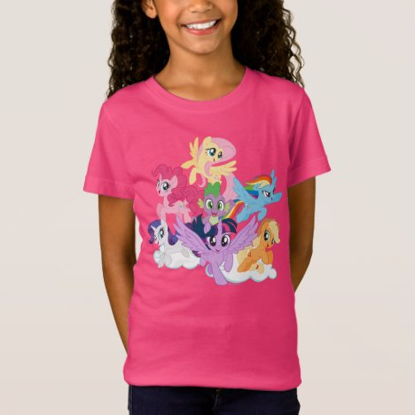 My Little Pony | Mane Six on Clouds T-Shirt