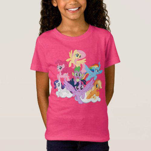 My Little Pony  Mane Six on Clouds T_Shirt