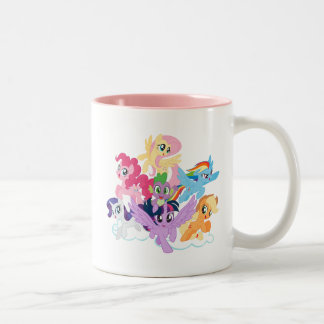 My Little Pony | Mane Six on Clouds Two-Tone Coffee Mug