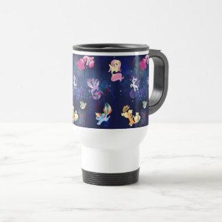 My Little Pony | Mane Six Seapony Pattern Travel Mug