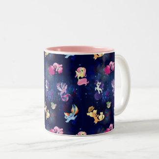 My Little Pony | Mane Six Seapony Pattern Two-Tone Coffee Mug