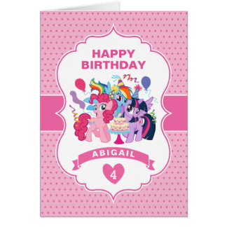 My Little Pony   Pink Birthday Card